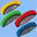 Envío gratis exterior deportes caliente de la venta 2.5 m línea Dual truco Parafoil Nylon fuente Kite Flying herramienta +
