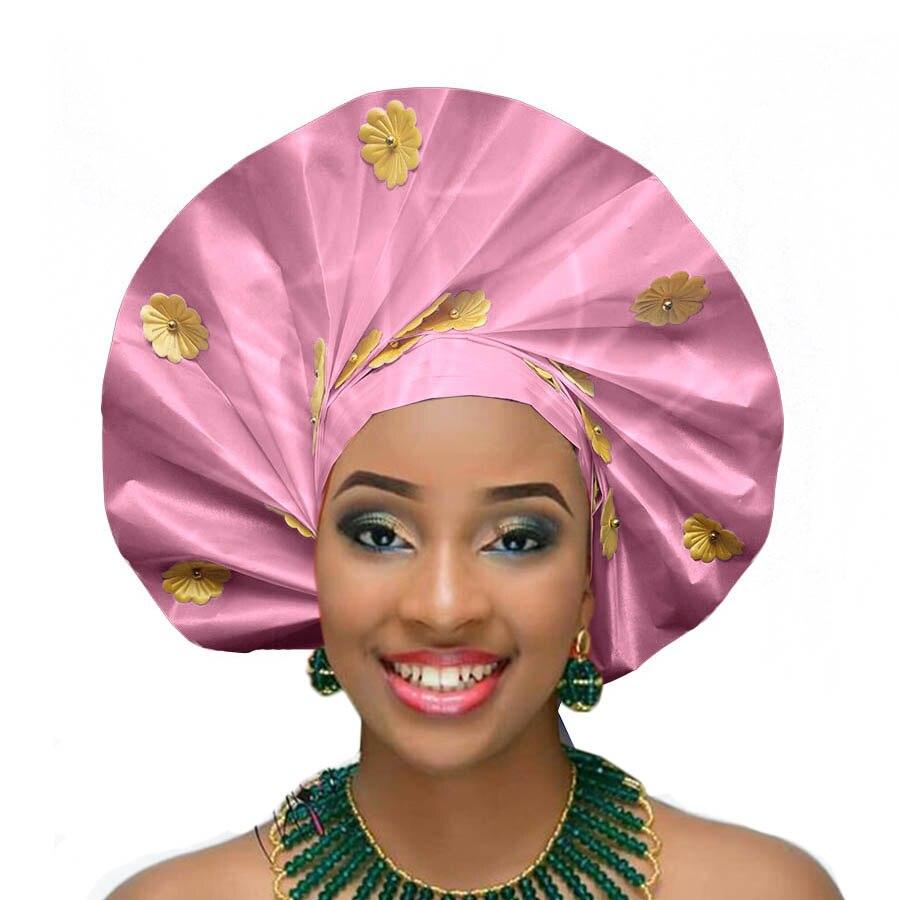 New design auto gele african headtie party african head wraps wedding african turban (8)
