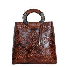 REGEM new leather handbag fashion tide national wind, female in huai oblique ku bucket with the bag