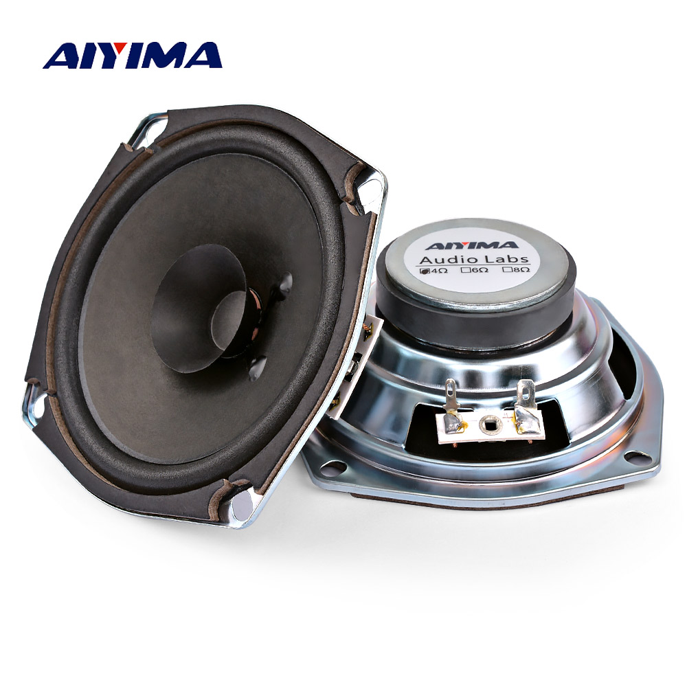AIYIMA 2Pcs 5 Inch Portable Audio <font><b>Speakers</b></font> Column Full Range Music <font><b>Speaker</b></font> 4 Ohm 5 W Loudspeaker DIY Home Theater Sound System image