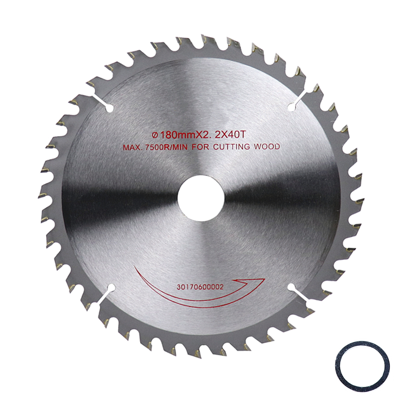 Circular Saw Blade 7''/180mm Tungsten-cobalt Alloy 40T/60T Cutting Disc Saw Blades For Wood Plywood Plate Power Cutting Tools