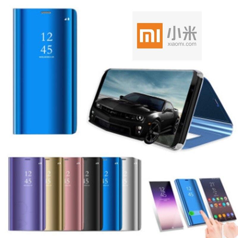Xiaomi Flip-Standing-Case Mirror Leather Case Note-7 8 Lite Redmi 4-4x-Cover Mi-9 Luxury
