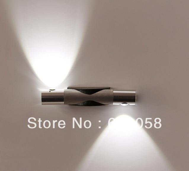 ФОТО 2013 newness Original LED Wall lamp fixture 85-265V 2*1W modern wall mount led light lamp bulb Living Room Bar Free Shipping