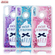 Liquid Glitter Case For Huawei P smart P9 lite mini 2017 On Honor 6C pro 8 lite 9 V10 7C Cases Ice cream Quicksand Dynamic Cover(China)