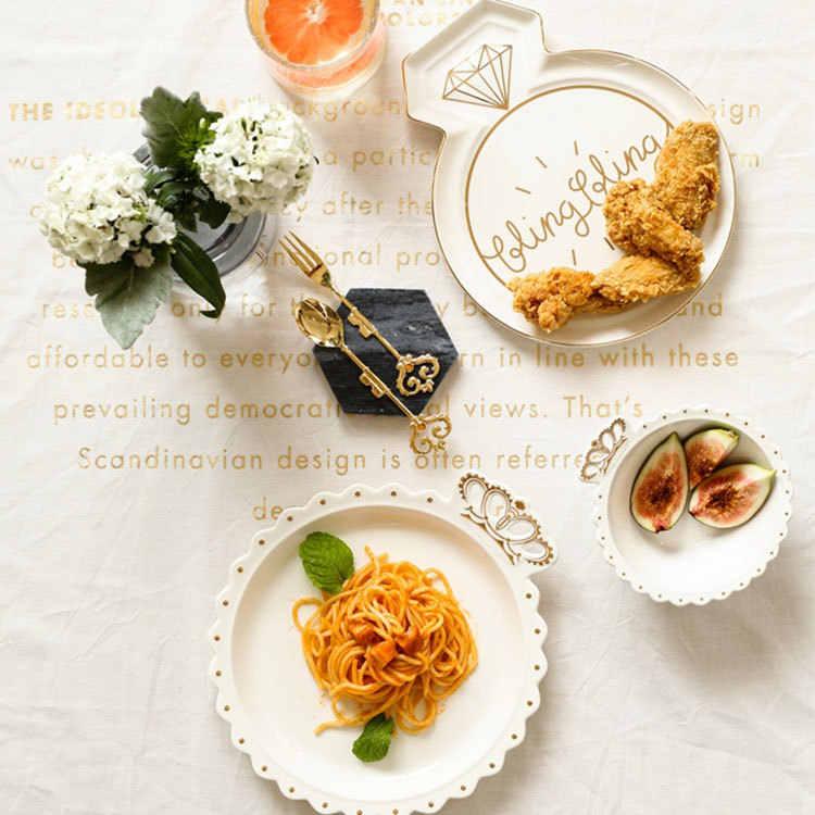 Dekorasi Kecil Keramik Piring Piring Anting-Anting Nampan Perhiasan Kalung Penyimpanan Perhiasan Piring Dinding Piring Vanity Tray Pernikahan Hadiah