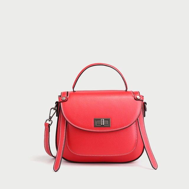 0a9f4fedd9 MC genuine Leather Fashion Purse Flap Handbag Female Casual Tote Lady  designer bags famous brand women bags for Women Gift