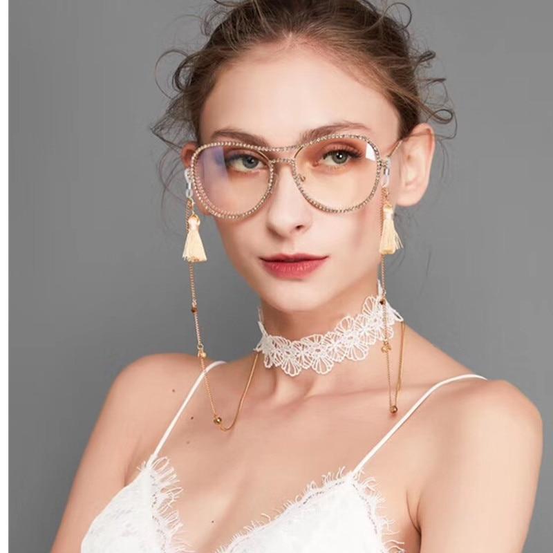 HBK Percontohan Sunglasses Wanita Dekorasi Berlian Imitasi Merek - Aksesori pakaian - Foto 2