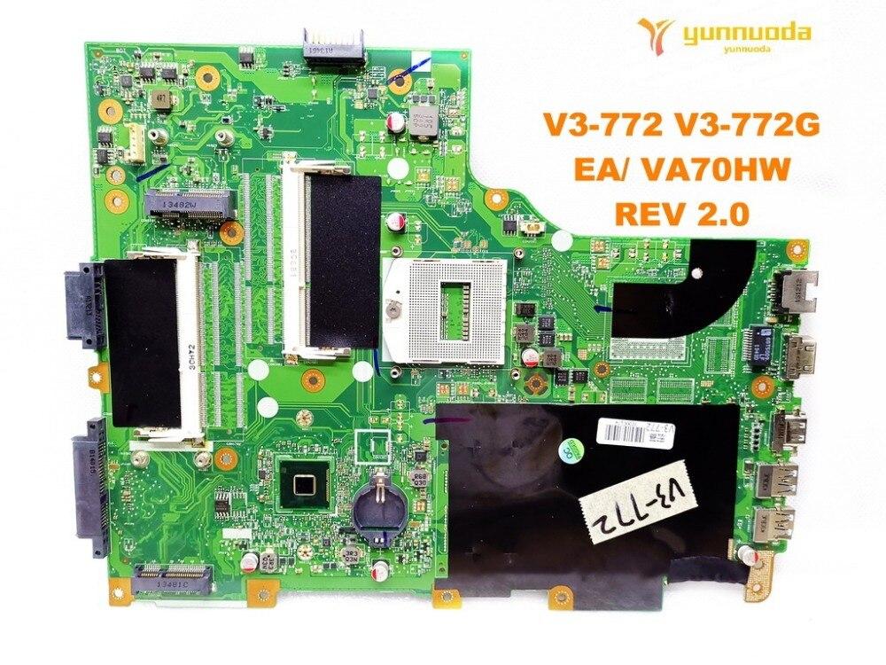 Housse d'origine pour ACER V3-772 ordinateur portable carte mère V3-772 V3-772G EA VA70HW RÉV 2.0 testé bonne livraison gratuite