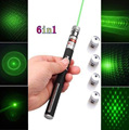 100Pcs/Lot DHL Free Shipping Green Ray Laser Pointer Pen Star Effect Caps 5 Laserheads Lazer Light