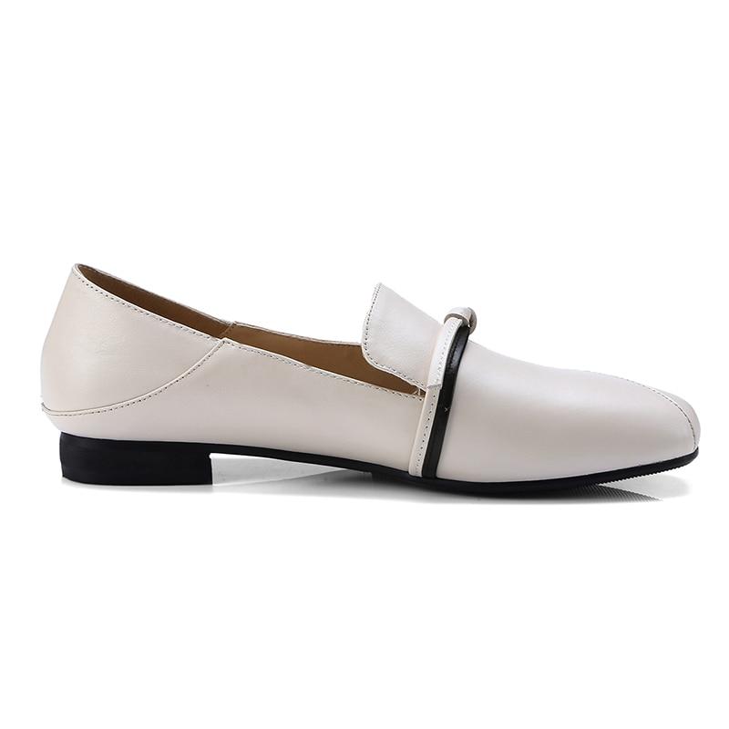 Noir Bout Plate Femme 2019 Chaussures Wetkiss Nouveau Femmes Liée brown Appartements Carré En Croix Semelle beige Printemps Mules Véritable Cuir 8qFqT6