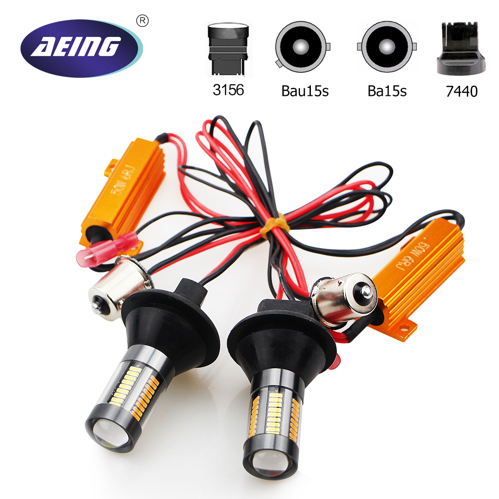 AEING 1156 Ba15s P21W/Bau15s PY21W/T20 7440/T25 3156 LED Bulb No Hyper Flash/No Error Amber Switchback Turn Signal Light DRL Kit ijdm high power amber yellow error free 21smd 2835 led bau15s 7507 py21w 1156py led bulbs for front turn signal lights 7507 led