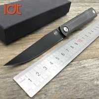 Cuchillo plegable LDT Zebra MS2 9Cr18Mov, cuchillo táctico con mango de acero, cuchillo de bolsillo de supervivencia para acampar al aire libre, herramientas EDC