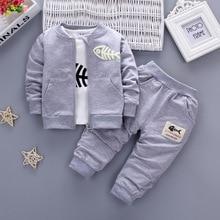 Новинка года, Осенние комплекты для маленьких девочек и мальчиков костюмы миньона комплект одежды для новорожденных Детское пальто+ футболка+ штаны, 3 предмета в комплекте, комплекты, детские костюмы