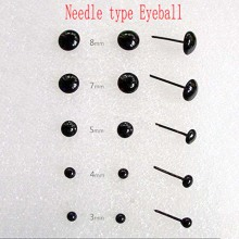 Scrapbooking 3 4 5 7 8mm 30 Pair Wool Fibre Roving Needle Felting Material Diy Accessories Black Beans Type Eyes Ball Button