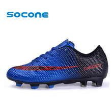 Mens Soccer Shoes 2016 Sport Football Shoes for Man Boys Outdoor Long Spikes FG Football Shoes Mens Sneakers Soccer Futsal Shoes