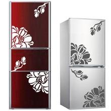 цена на 1PCS Creative flowers butterfly refrigerator stickers magnolia refrigerator decorative home decor waterproof PVC wall sticker