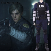 Resident Evil 2 Remake Leon Cosplay Costume Halloween costumes Leon Scott Kennedy Costume clothing Custom made outfit