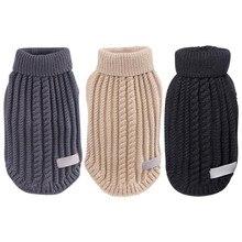Пижама для собак, водолазка, Свитера для собак, зимняя теплая одежда для щенков, вязаные свитера для животных, чихуахуа, трикотаж Apperal