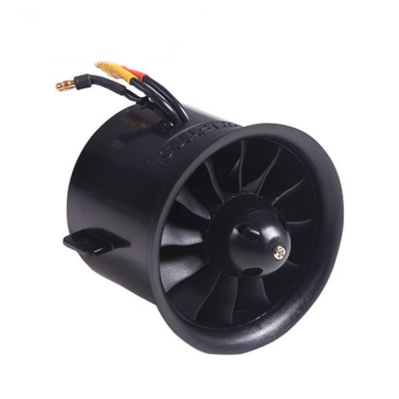 FMS 70mm 12 Blades Ducted Fan EDF With 2845 KV2750 Motor For RC Airplane fms 70mm 12 blades v2 ducted fan edf unit with 2860 kv1850 2845 kv2750 brushless motor