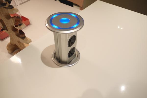 US $8999.0  Intelligent lifting pop up desktop socket/Domotical Smart  Motorized pop up socket high class and modern kitchen power grommet-in Plug  With ...
