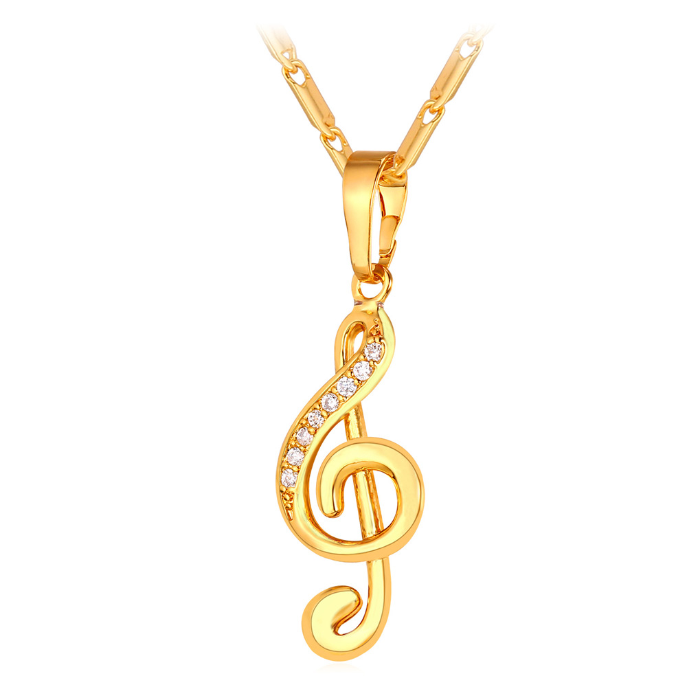 Charm necklaces pendants for women musical notation music note charm necklaces pendants for women musical notation music note pendant romantic gift for girlfriend female jewelry p295 in pendant necklaces from jewelry aloadofball Choice Image