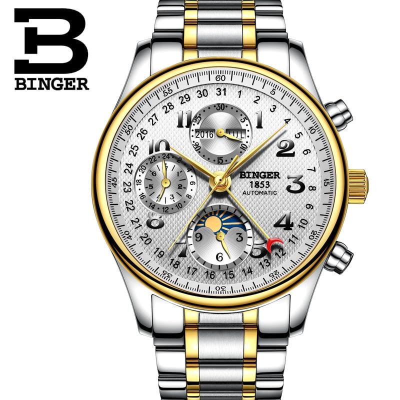 La B 603 Nuevo Fase De Funciones Binger Hombres Múltiples Calendario Mecánicos Lujo Luna 8 3 Marca Relojes 2018 Los eH2IY9EWD