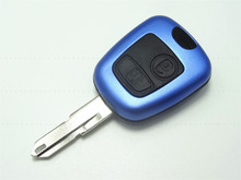 2016 New Blue color Case Remote Key Case Shell Hosuing fit for PEUGEOT 206 205 405 106 2 Button Key Case