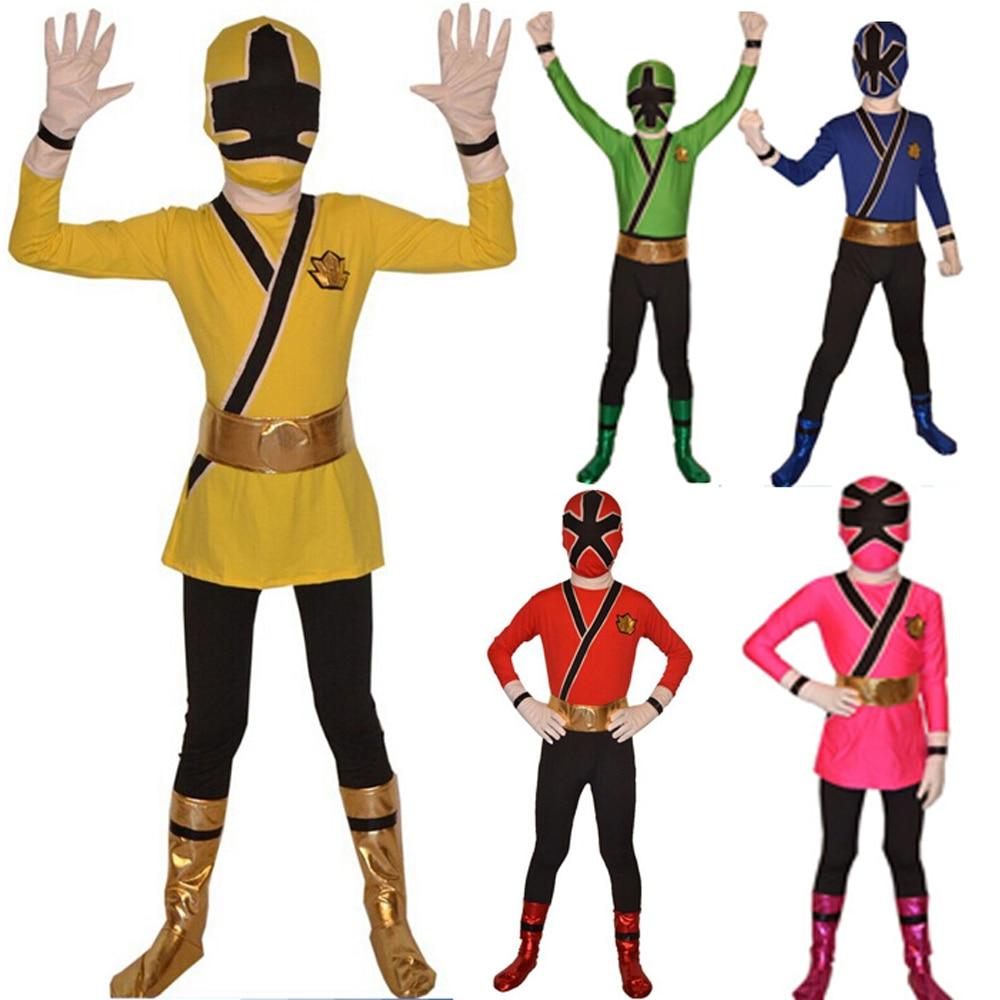 Online Shop Free Shipping Kid Power Rangers Costume kid Samurai ...