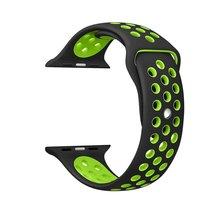 38 MM 42mm bracelet Souple En Silicone Sport Bande Pour Apple Montre Série 2 Courroie De Remplacement pour Apple iWatch Nike Sport Bande