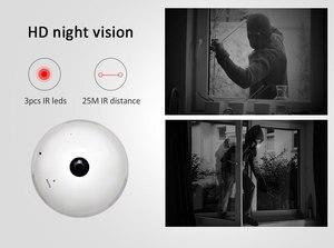 Image 5 - INQMEGA 960 P Draadloze IP Camera Gloeilamp Licht Panoramisch Fisheye Home Security Surveillance 360 Graden 3D VR k CCTV WIFI Cam
