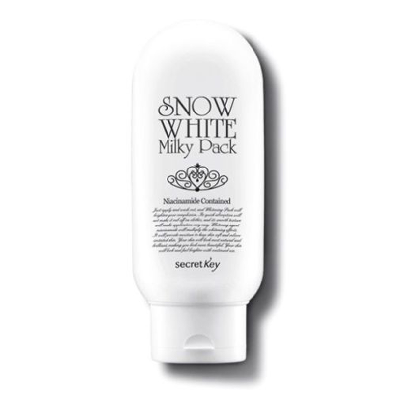 SECRET KEY Snow White Milky Pack 200ml Face Mask Facial Mask Whitening Brightens Skin Moisturizing Anti Aging Skin Care
