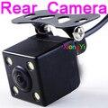 Alta Qualidade Car Câmara de Visão Traseira Night Vision 4 Led Brilhante Lâmpadas Câmera reversa HD CDD backup Camara 6 Mitras fio À Prova D' Água