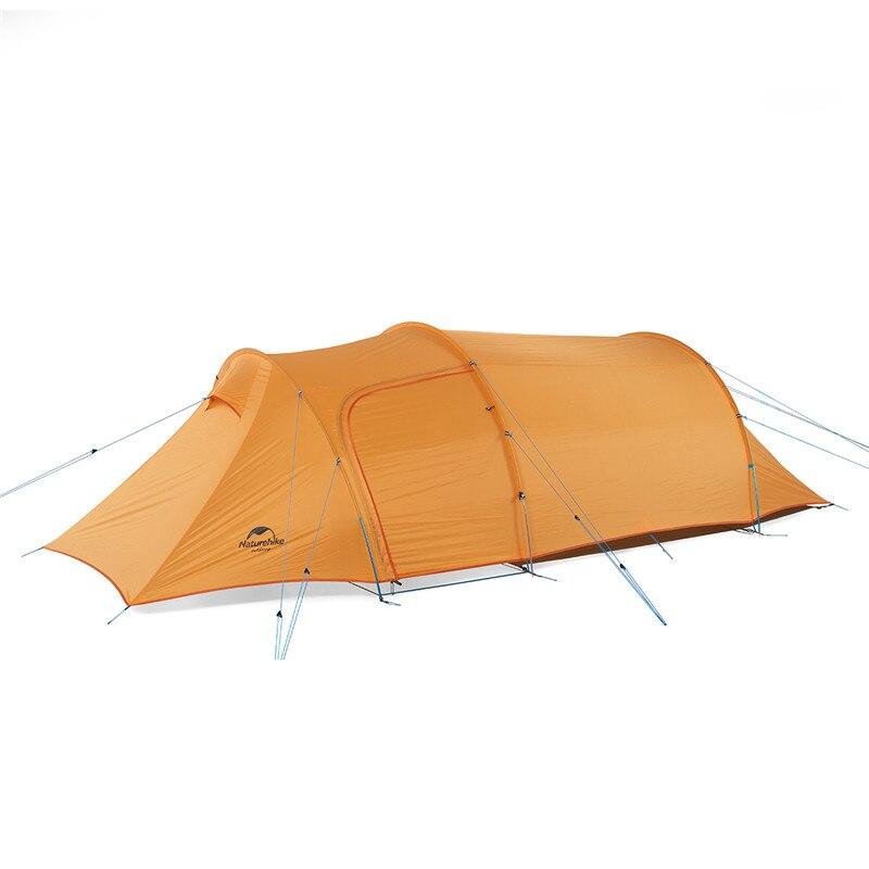 Tente de Tunnel de revêtement de Silicone ultra-léger extérieur de naturetrekking Opalus 2 3 tentes de Camping de tissu de la personne 20D 210 T avec l'orange vert de tapis