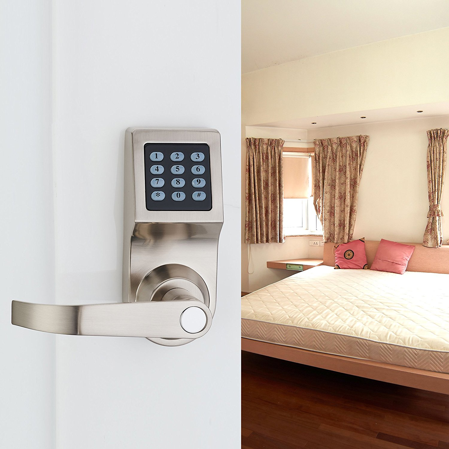 digital door lock electronic lock unlock with m1 card code and