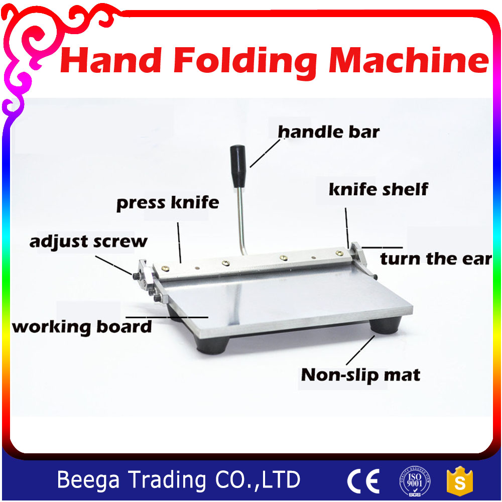 12 Inch/14 Inch Hand Folding Machine Leather/PU Leather Purse Gluing Edge Folding Machine