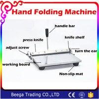 12 Inch Hand Folding Machine Leather PU Leather Purse Gluing Edge Folding Machine