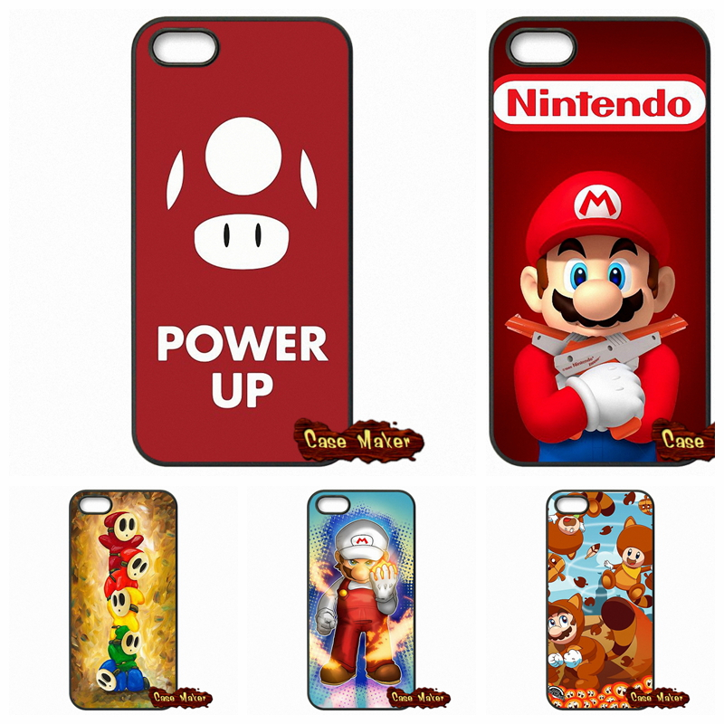 the best attitude 3267d f2097 US $4.96 |Super Mario Bros Mushrooms Covers Case For iPhone X 4 4S 5 5C SE  6 6S 7 8 Plus Galaxy J5 J3 A5 A3 2016 S5 S7 S6 Edge-in Half-wrapped Case ...