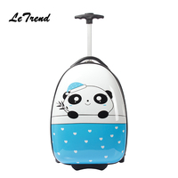 Letrend Kids Rolling Luggage Spinner Wheel Suitcases For Children Cute Cartoon Trolley Travel Duffle Student Carry On School Bag