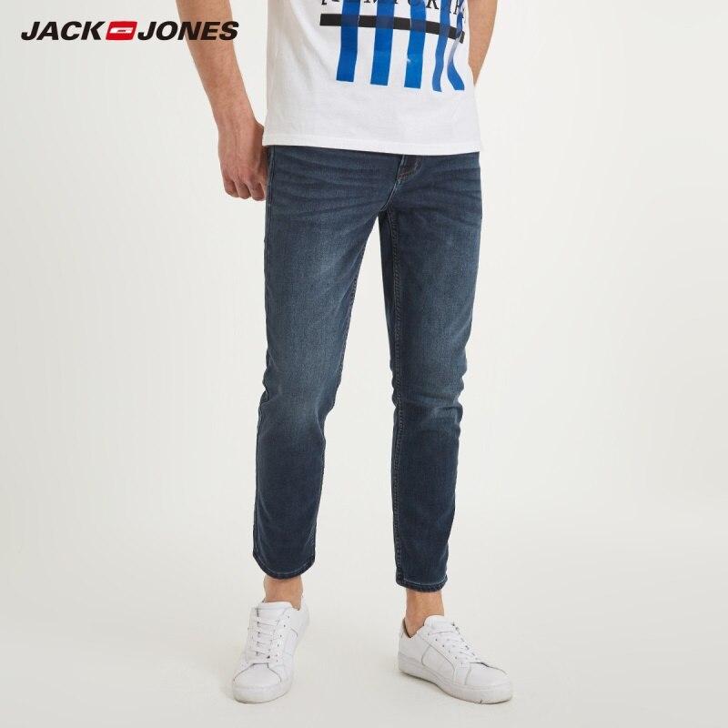 JackJones 2019 de invierno nuevos hombres de algodón elástico pantalones vaqueros pantalones sueltos Fit pantalones de mezclilla de los hombres de moda de la marca | 218132571