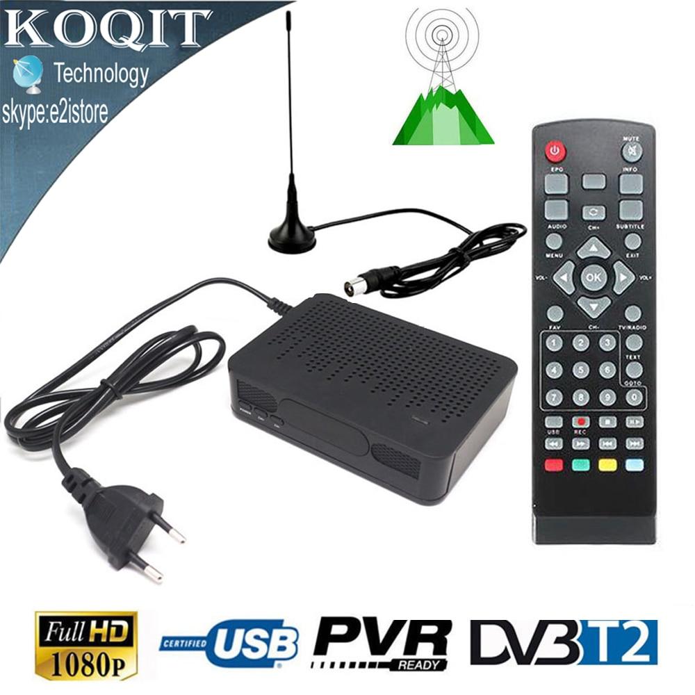 hd digital terrestrial tv tuner convertor receiver dvb t2 dvb t with fta magnet antenna 1080p. Black Bedroom Furniture Sets. Home Design Ideas