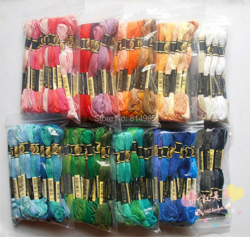 Choose Any Colors Or A Full Set(All Colors Are Different) 447 Pieces Embroidery Floss Yarn Thread Similar DMC