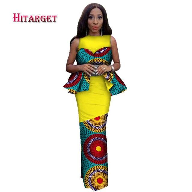 Hitarget 2019 New Design African Bazin Riche Dresses For Women