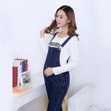 d3ad5b000 Moda cómoda maternidad Denim babero general Jeans para mujeres embarazadas  mono tirantes pantalones uniformes pantalones vaquero.