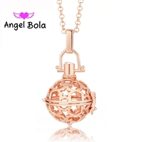 Pryme Angel Bola 10pcs/Wholesale 20.5mm Star Pattern Eco-friendly Engelsrufer Cage Pendant Sound Bell Ball Necklace Jewlry L018