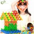 200Pcs 3D Puzzle Jigsaw Kunststoff Schneeflocke Gebäude Gebäude Modell Puzzle Pädagogisches Intelligenz Spielzeug Für Kinder WYQ
