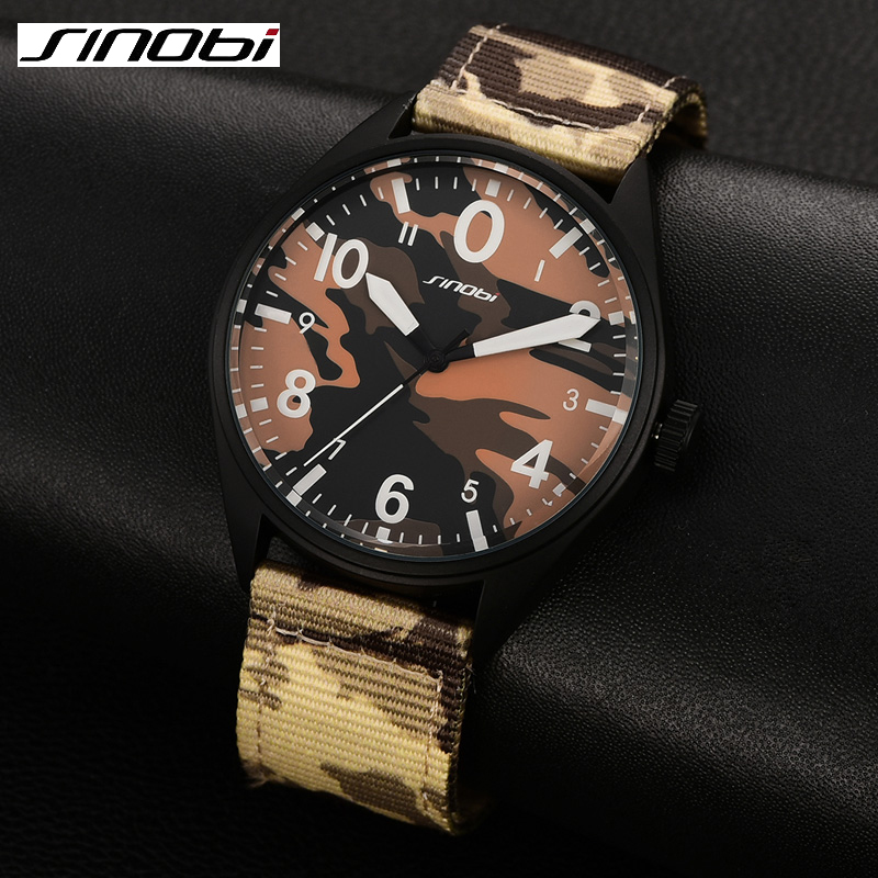 Camouflage Quartz Watch Men Army Military Fashion Casual boy Wristwatch Outdoor Faric 2017 New Sinobi relojes Hombre Clock male weide new men quartz casual watch army military sports watch waterproof back light men watches alarm clock multiple time zone