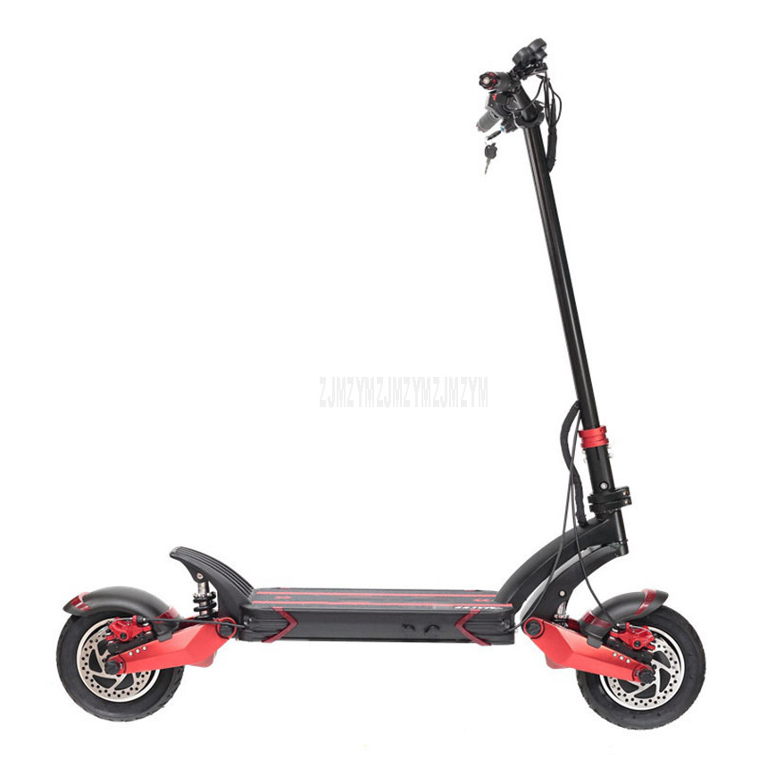 48V Single/Double Drive Off road Electric Scooter Skateboard E Scooter 10 inch Wheel Instead Of Walking 10.4Ah/18.2Ah/23Ah