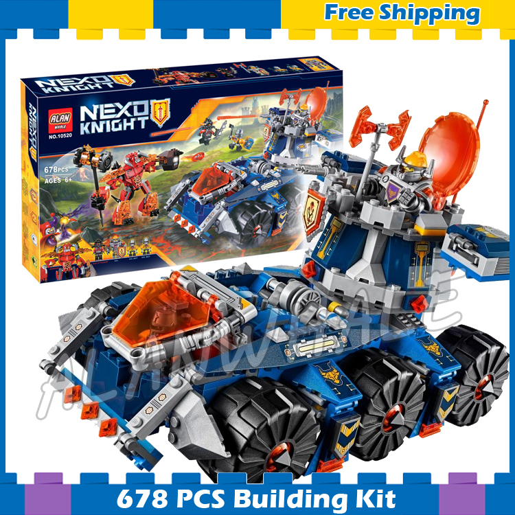 678pcs Knights Axl's Tower Carrier Chariot War Wagon 10520 Model Building Blocks Children Gifts sets Nexus Compatible With Lego купить mitsubishi cedia wagon москва