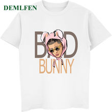 c588bb2ee3 Funny Bad Bunny Rabbit T Shirt Men's Summer O-Neck Short Sleeve Cotton T-