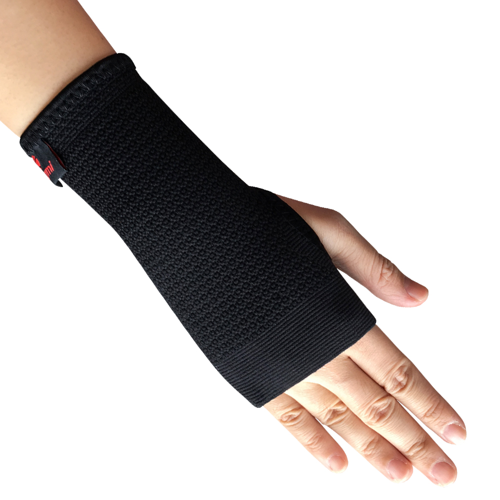 Kuangmi Compression Wrist Support Sports Wristband Bracer Hand Palm Protector Wrist Wraps Strap Weightlifting Boxing Guard 1 pc